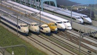 新幹線 + 複線高架線路 Nゲージ その2