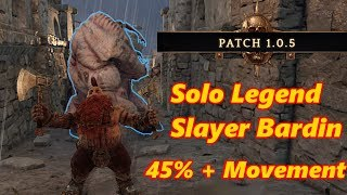 Solo Legend Bardin Slayer +45% Movement Speed in Vermintide 2