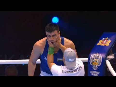 Сумасшедшая заруба супертяжей. Видео боя Кункабаев — Джалолов за «золото» ЧМ-2019