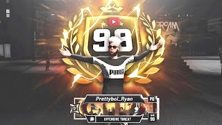 I HIT 99 overall on my OFFENSIVE THREAT on NBA 2K20 😱 BEST BUILD 2K20