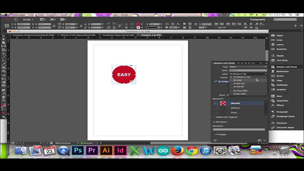 How To Make a Button in InDesign CS6/CC - YouTube