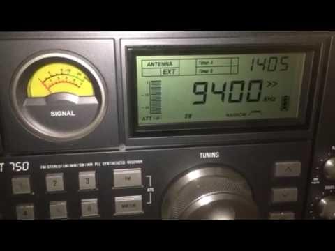 Radio Denge Kurdistan, 9400 kHz, 30 October 2016, 14:05 UTC