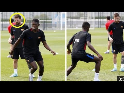 Thumbnail: Messi likes Dembele more than Neymar already in their first training together?.(Neymar is Jealous)😐