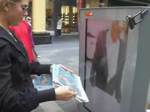 The Advertiser : Papermotion & Total Immersion demo, Adelaide