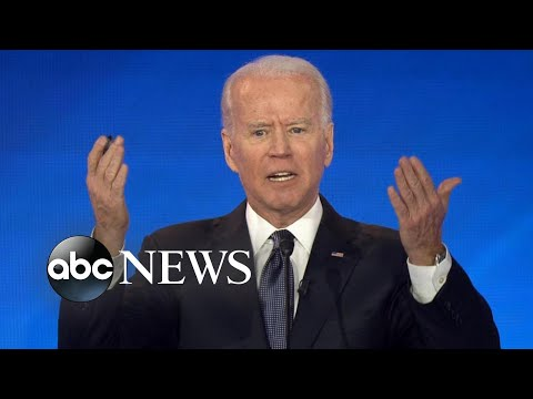 Joe Biden stops Democratic debate to ask audience to stand and applaud for impeachment witness fired by Trump
