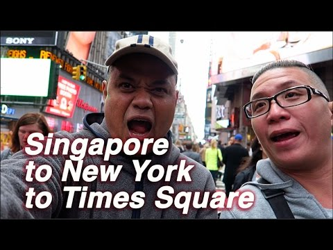 Singapore to New York to Times Square!
