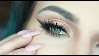 Gold Smoked out wing  Kylie Jenner eye look