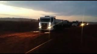 Comboio chegando pro carrego da bolinha d'agua