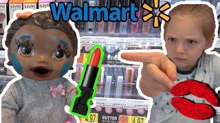 BABY ALIVE SHOPS for MAKEUP! SNEAKY LILLY! The Lilly and Mommy Show. The TOYTASTIC Sisters!