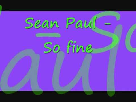 Sean Paul - So Fine - YouTube
