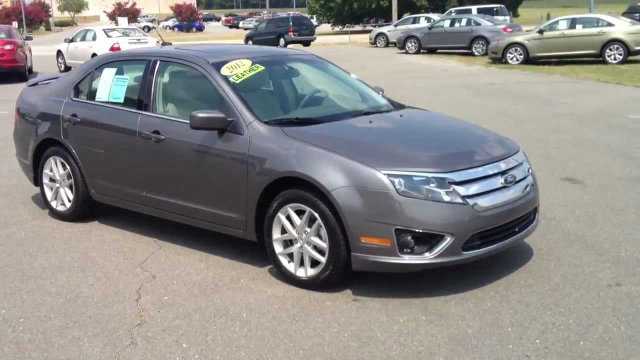 New 2012 ford fusion sterling gray sel for sale youtube