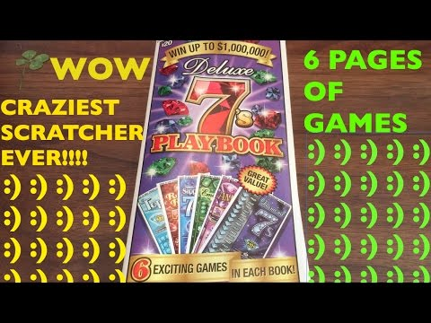 WOW 6 GAMES IN 1 AND FIRST TIME WIN!! Deluxe 7's Playbook $20 California Lottery Scratcher