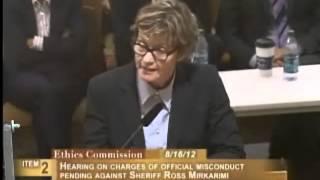 Debra Walker, Ethics Commission Sheriff Mirkarimi, August 16, 2012 [Item 2, PC-80, PL-3]
