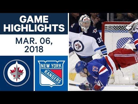 NHL Game Highlights | Jets vs. Rangers - Mar. 06, 2018