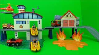 🔥 Feuerwehrmann Fireman Sam Fire Station RettungsStation + Jupiter,  and Ocean Rescue compilation