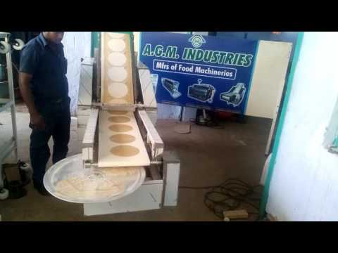 AGM Industries | Semi AUtomatic Chapati Making Machine with Sheeter Rotating Type
