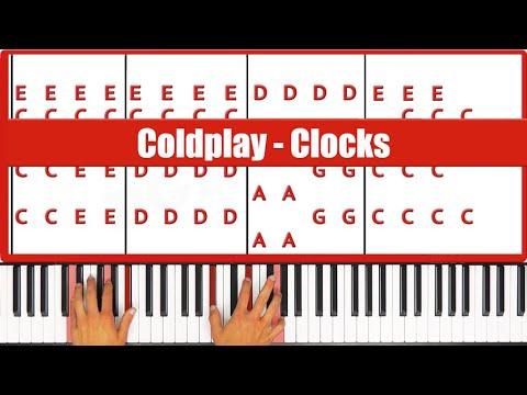 Clocks Coldplay Piano Tutorial! - ORIGINAL+VOCAL