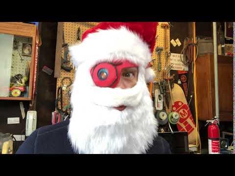 Cyberpunk Santa TFT Gizmo Eye + CPB @adafruit @johnedgarpark #adafruit