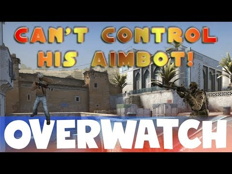 He can't CONTROL his AIMBOT! CS:GO OVERWATCH! thumbnail