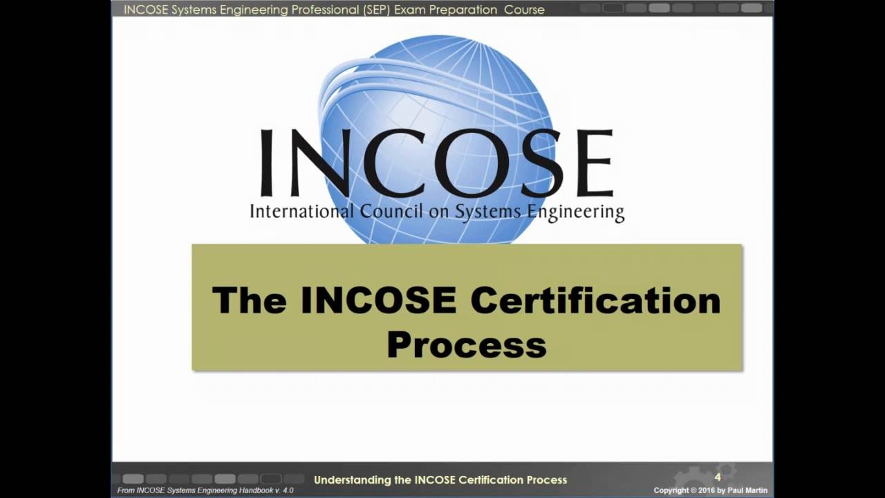 Understanding The Incose Certification Process Youtube