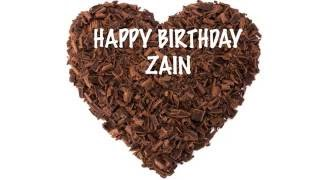 ZainZAYIN ZAIN  two syllables   Chocolate - Happy Birthday