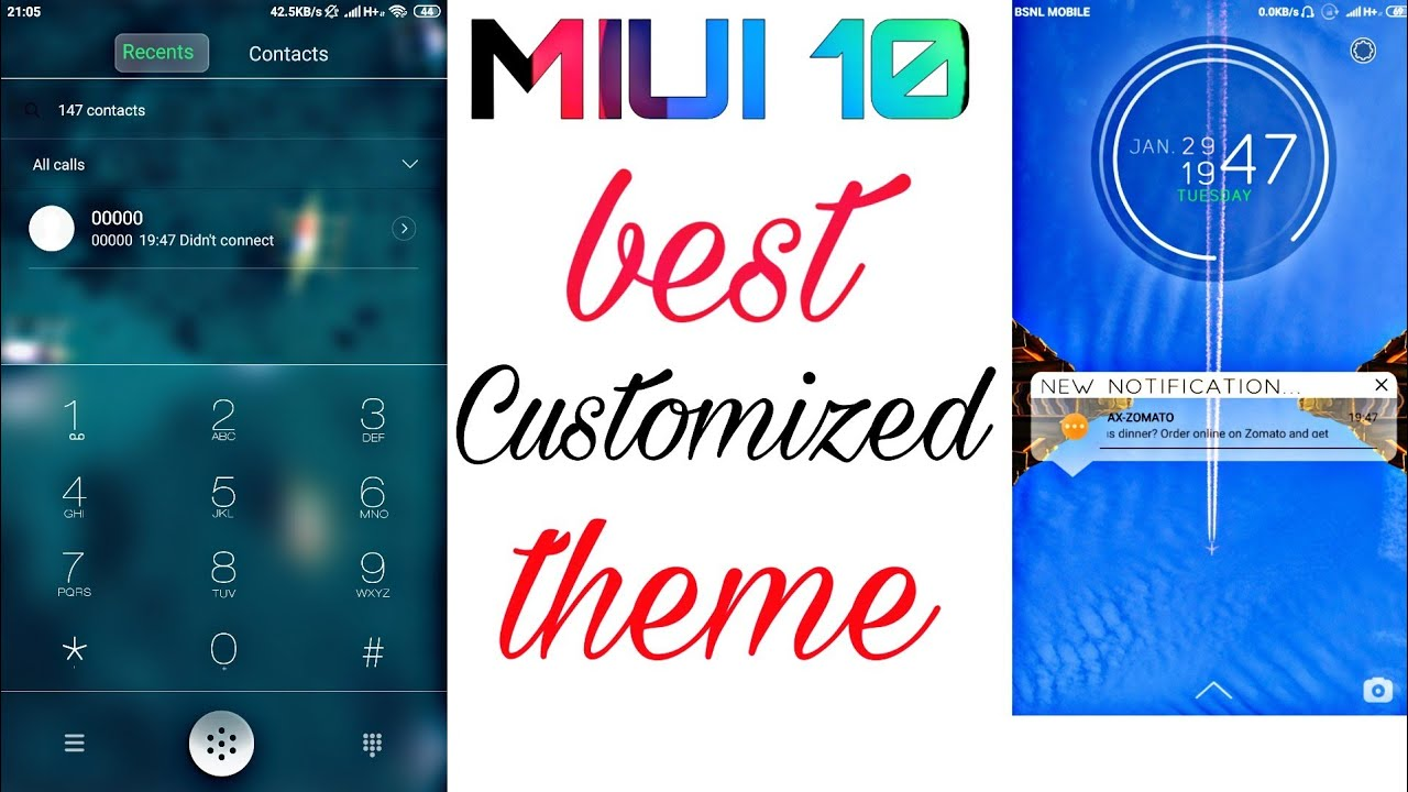 Best Customized Theme For MIUI | MIUI 10 Animated Theme For All Xiaomi  Devices