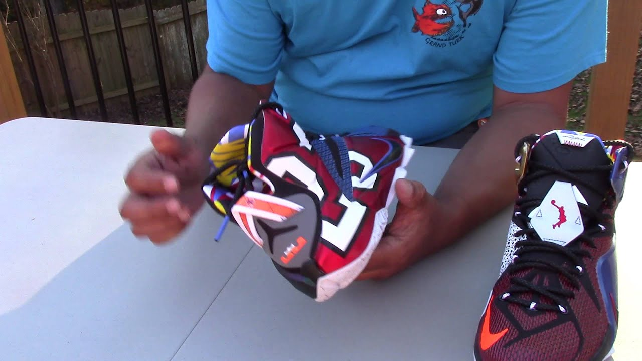 61c6a26b32e1 Unboxing Nike Lebron James 12 SE what the - YouTube