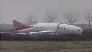 Animatie Turkish Airlines, Neergestort tijdens nadering, Boeing 737-800, Amsterdam Schiphol Airport
