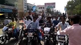 दरभंगा nsui प्रदेश अध्यक्ष मदन मोहन झा के स्वागत के लिए बाइक रैली त्रिभुवन कुमार जिलाध्यक्ष
