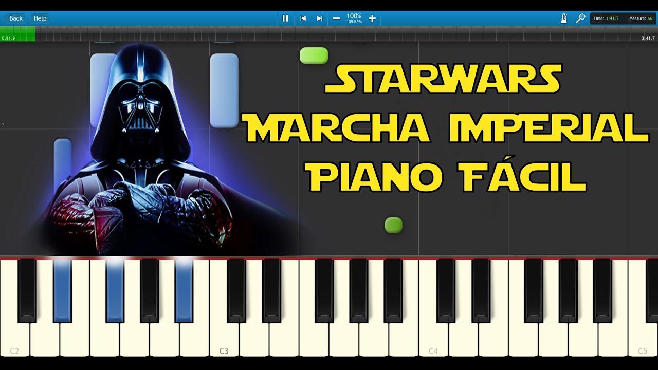 Como Tocar La Marcha Imperial Piano Facil Partitura Gratis Youtube