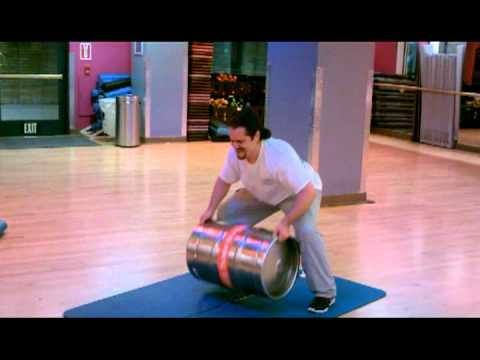 PoMan Fitness Tip:  Beer Keg workout