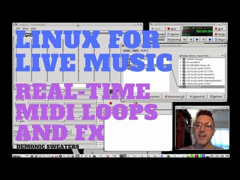 Making a Linux Live MIDI Setup with SEQ24, Qsynth and Jack Rack