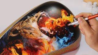 Video Painting Lion Fire - Airbrush Real Fire / Rafa Fonseca download MP3, 3GP, MP4, WEBM, AVI, FLV Mei 2018