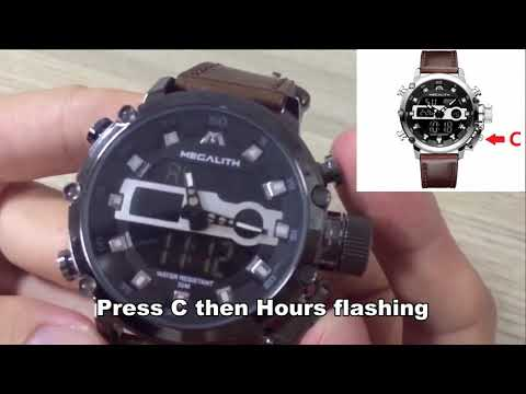 Megalith Watch 8051M Instruction -how To Set Time Date Week