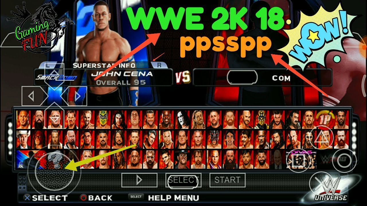 300mb wwe 2k18 on android ppsspp with download link
