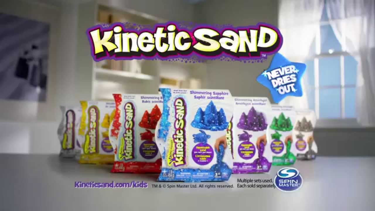 spinmaster kinetic sand glitter tvc youtube. Black Bedroom Furniture Sets. Home Design Ideas