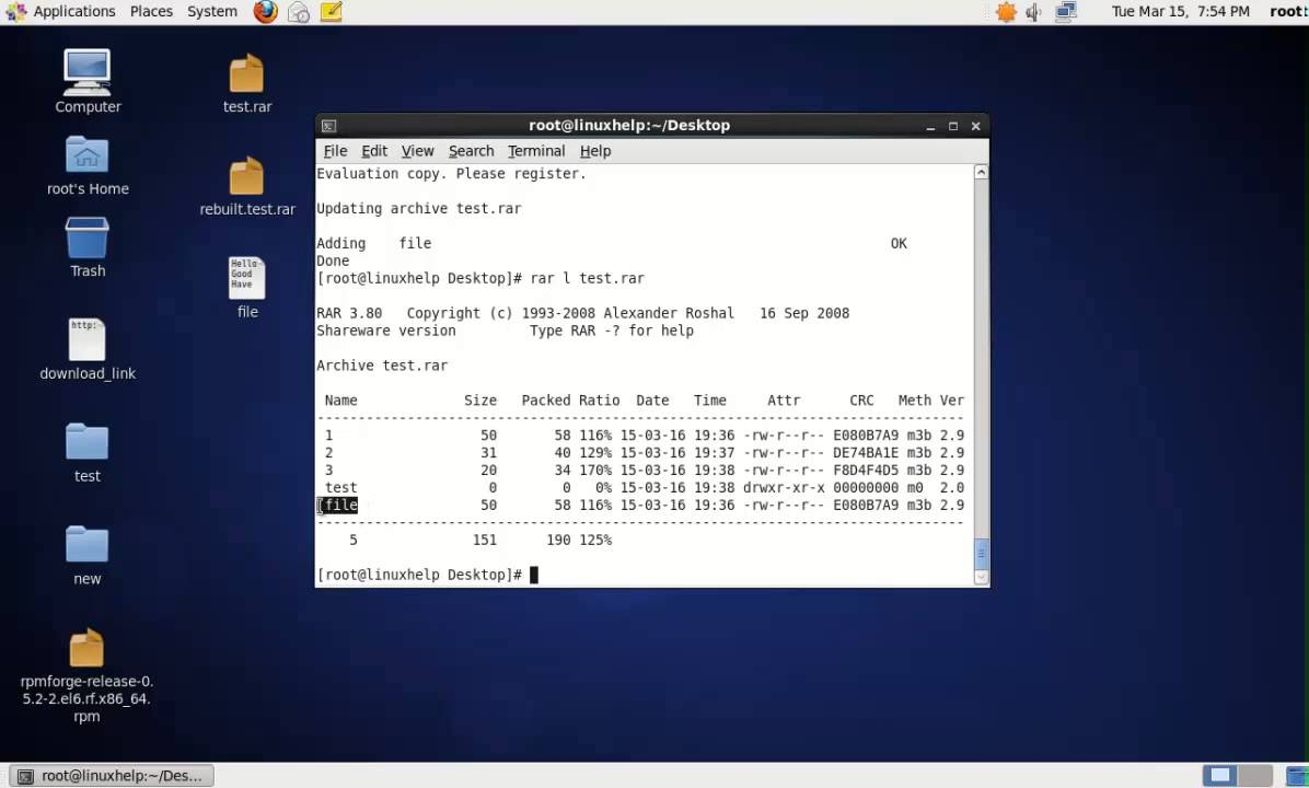How to Create, Extract and Open RAR files in Linux
