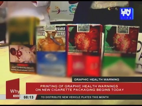 Printing of graphic health warnings on new cigarette packaging begins