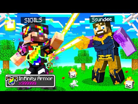 Making ULTIMATE INFINITY ARMOR in Insane Craft