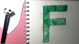 Learn alphabetically and draw the letter F