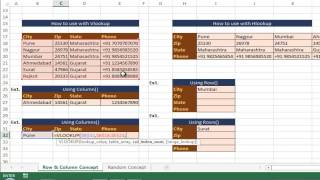 Row and Column function hindi - Bhavesh's Excel Tricks