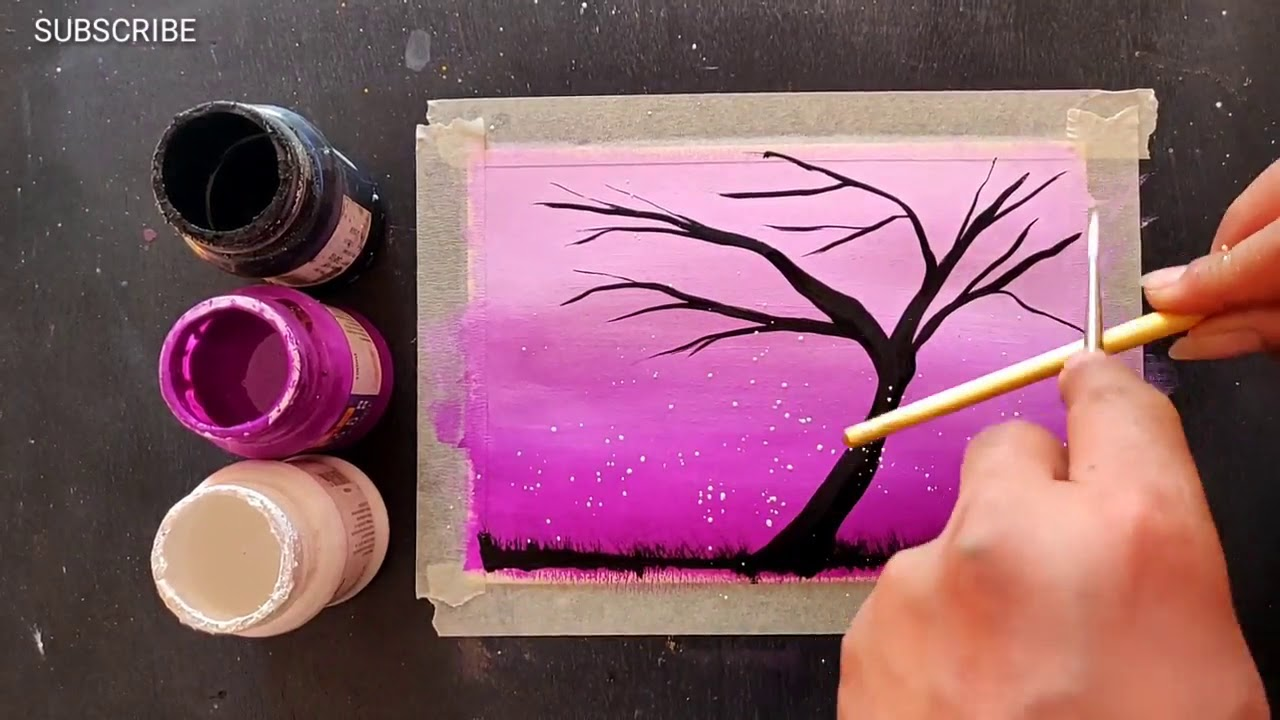 Easy Painting For Beginners Canvas Ideas Step By Acrylic 326 Youtube