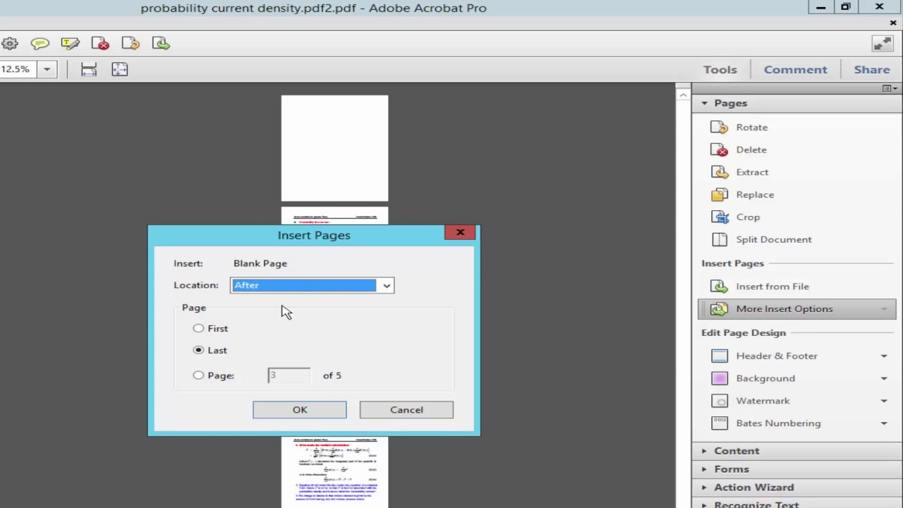 how to delete blank page in pdf file