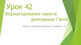 MS Project 2013 - Форматирование макета диаграммы Ганта (Урок #42)