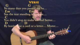 Please Mister Postman (Beatles) Strum Guitar Cover Lesson in G with Chords/Lyrics