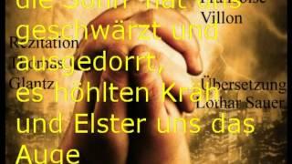Ballade der Gehenkten F.Villon/Sauer Übersetzung-Rezitation Glantz. electrophorus.de