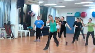 ZUMBA® fitness class with Lilach Yacov- Jennifer Lopez - Follow The Leader