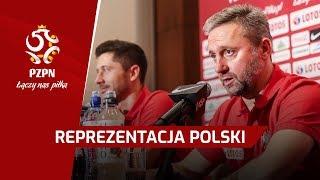 Konferencja prasowa | Jerzy Brzęczek, Robert Lewandowski