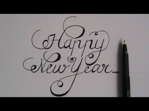 Happy New Year Font 78