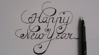 how to write in cursive - fancy letters happy new year